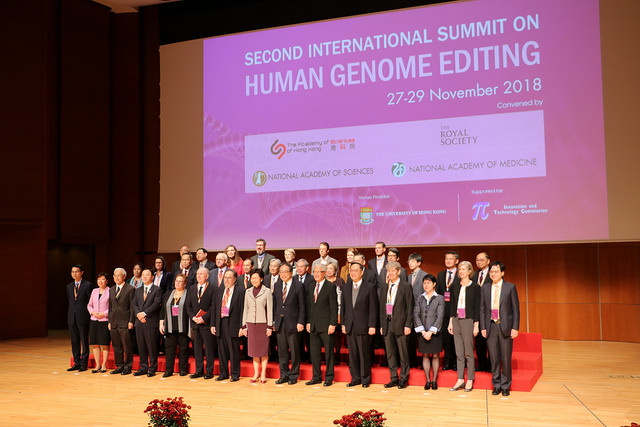 Second International Summit on Human Genome Editing, Hong Kong, Nov. 27-29, 2018
