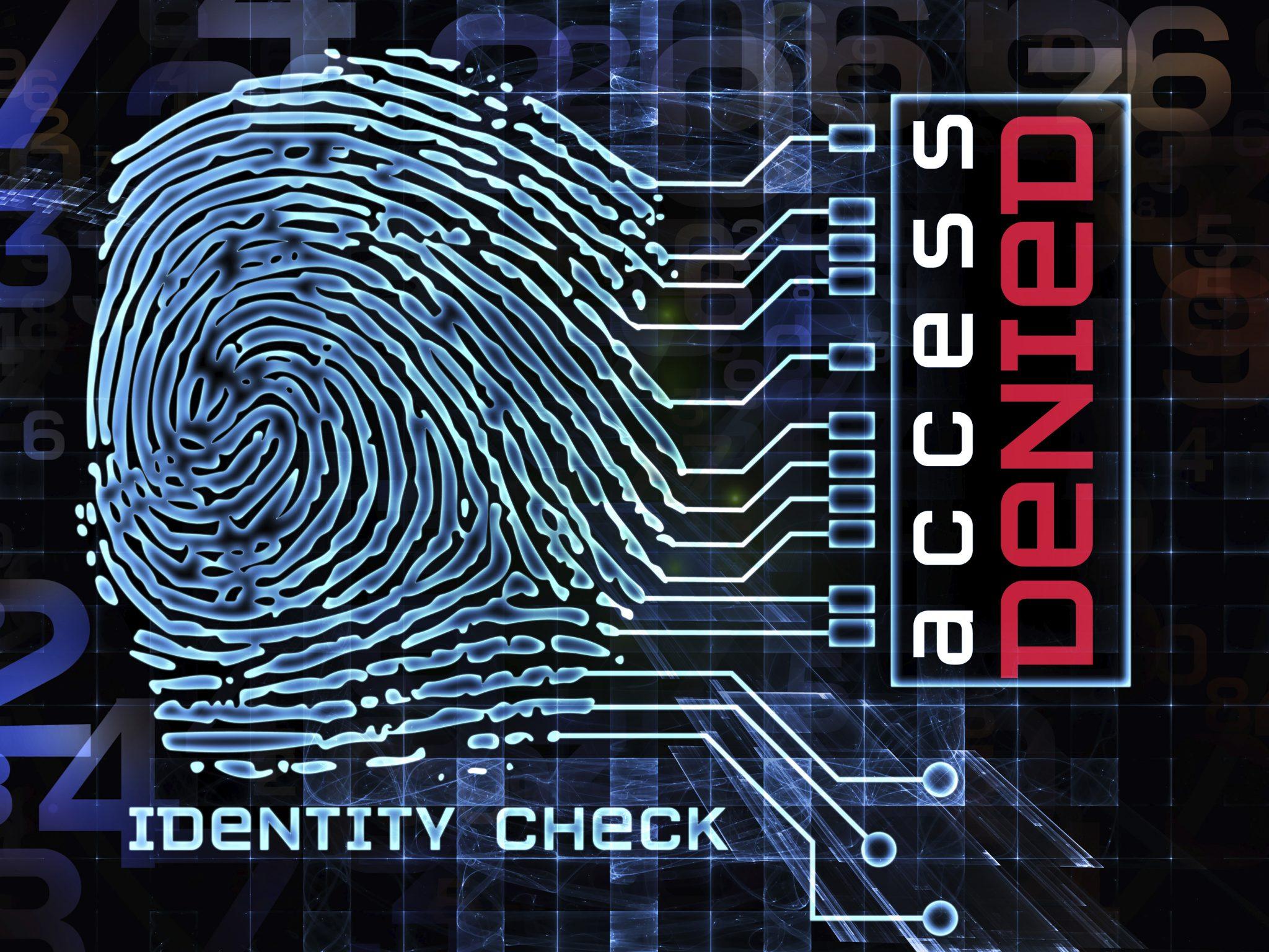 Accès refusé biométric biométrie digital